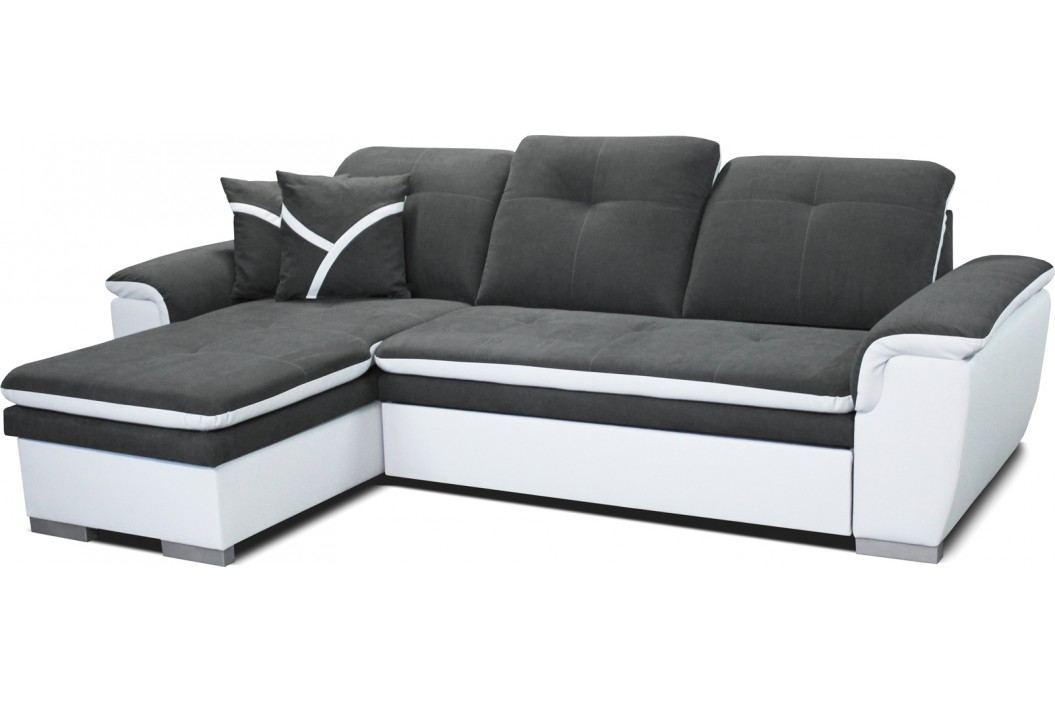 Rohová sedací souprava - Po-Sed - Estevan L+2F (šedá + bílá) (L)