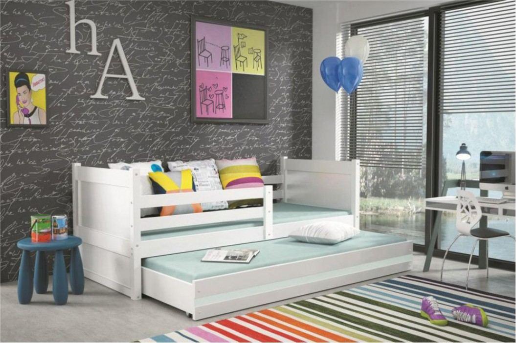 Dětská rozkládací postel Rico II 90x200 cm bílá - BMS
