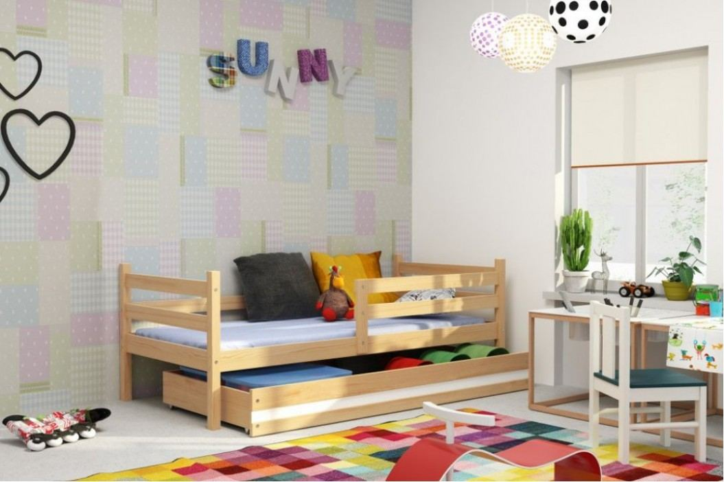Dětská postel Eryk 90x200 borovice - BMS