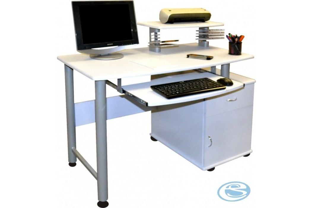 PC stůl CT-2631 bílý