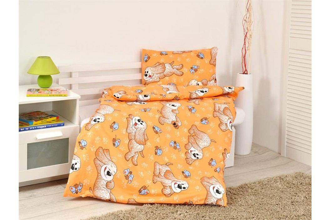 B.E.S. Petrovice Dětské povlečení Dog Orange bavlna,90x130