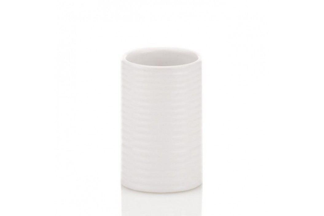 Pohár GROOVE keramika bílý KELA KL-20799