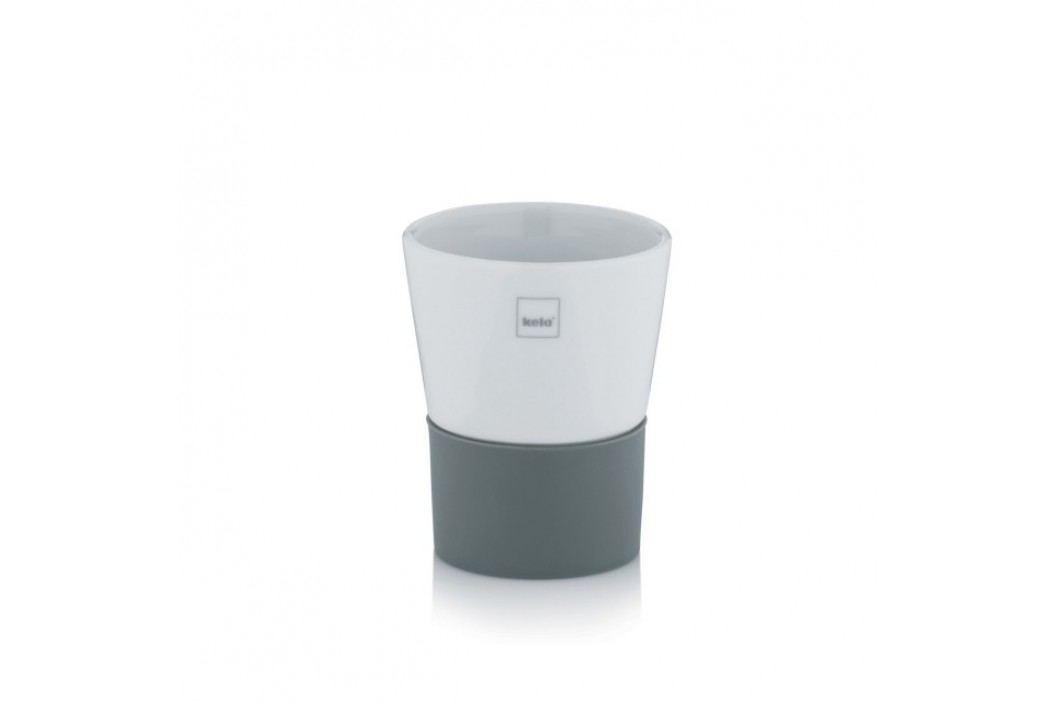 Pohár PIANO keramika bílá / šedá KELA KL-23043