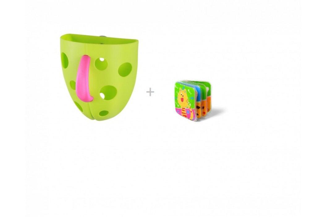 BABYONO - Box na hračky do vany a knížka pískací zdarma, zelená