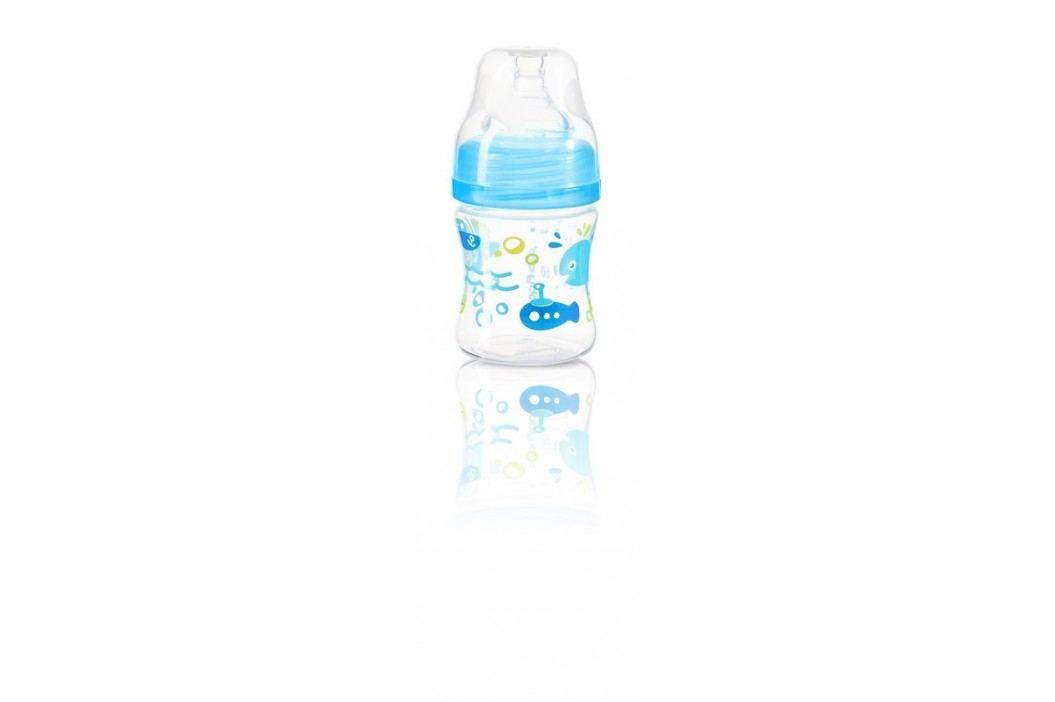 Kojenecká antikoliková láhev široké hrdlo modrá 120 ml