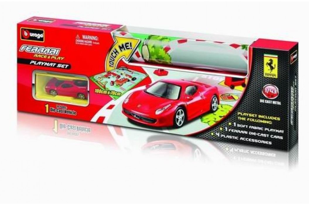 BBURAGO -  Ferrari Playmat s jedním autíčkem 31235