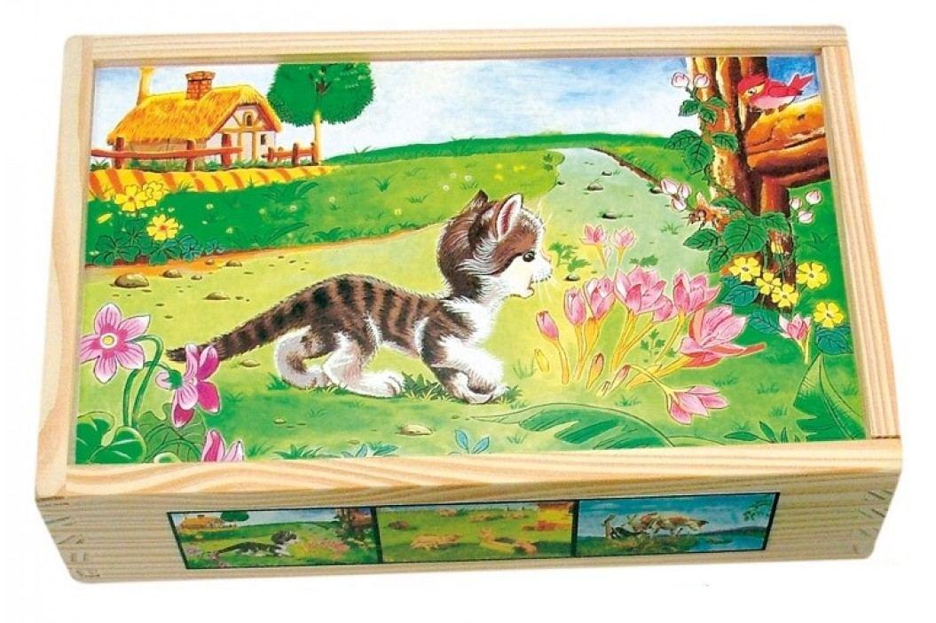Bino - 84175 Kostky Domácí zvířátka v krabičce 15 kusů