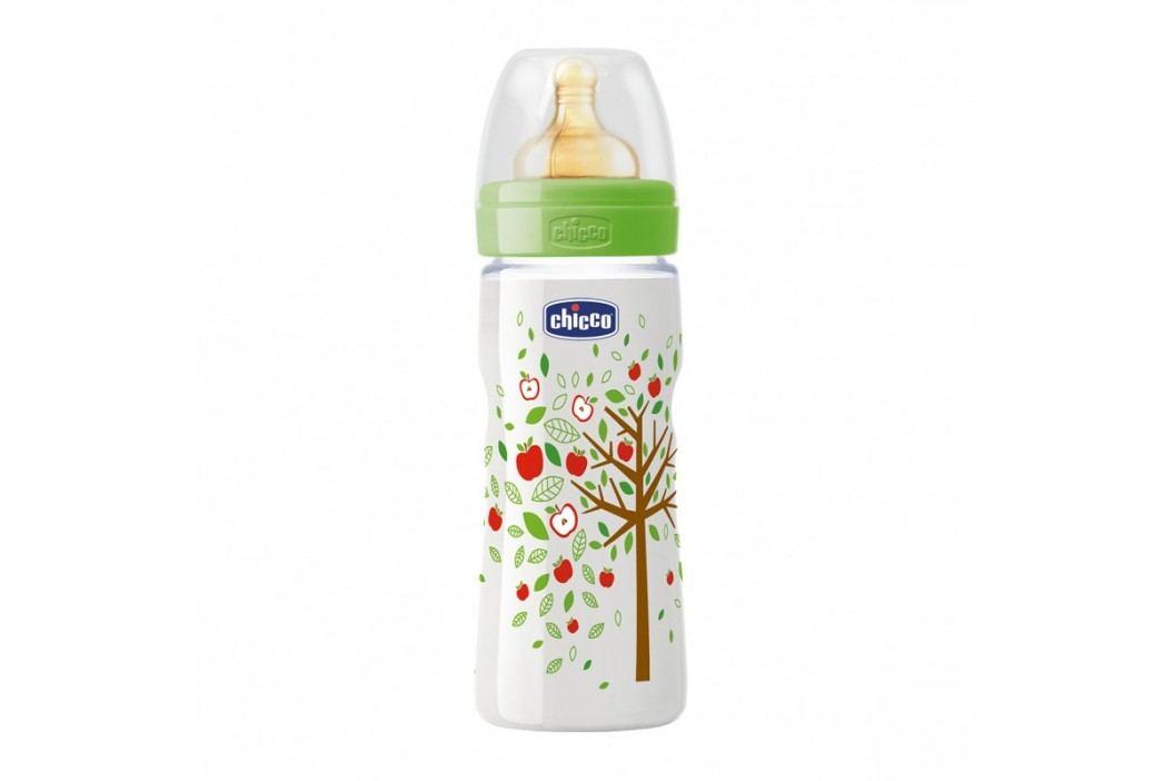 Láhev bez BPA Well-Being kaučukový dudlík rychlý 330ml