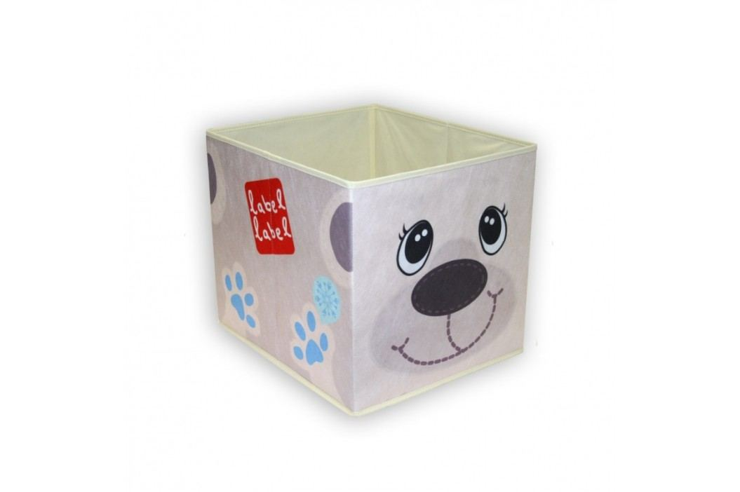 LABEL-LABEL - Box na hračky, ledový medvídek
