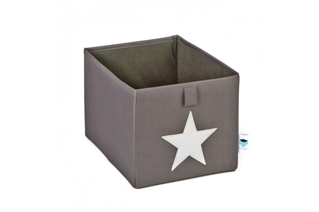 LOVE IT STORE IT - Malý box na hračky - šedý, bílá hvězda obrázek inspirace
