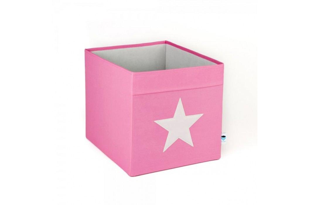 LOVE IT STORE IT - Velký box na hračky - růžový, bílá hvězda