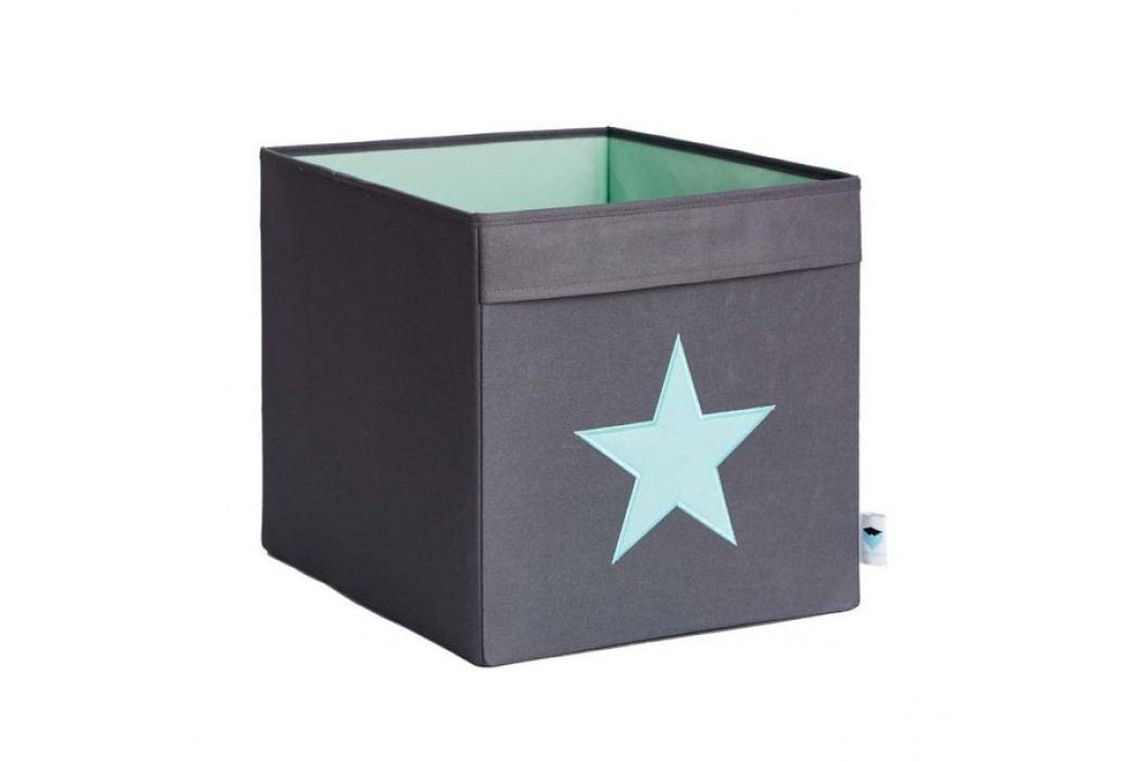 LOVE IT STORE IT - Velký box na hračky - šedý, zelená hvězda obrázek inspirace