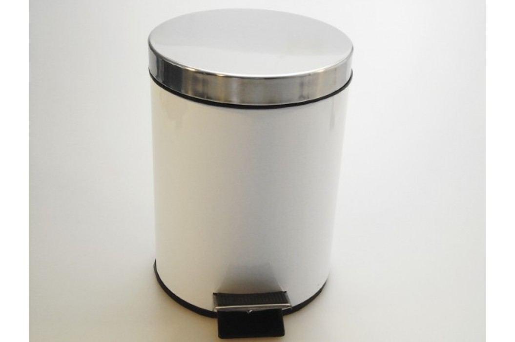 Nerezový odpadkový koš so šlapadlom 20l - bílý