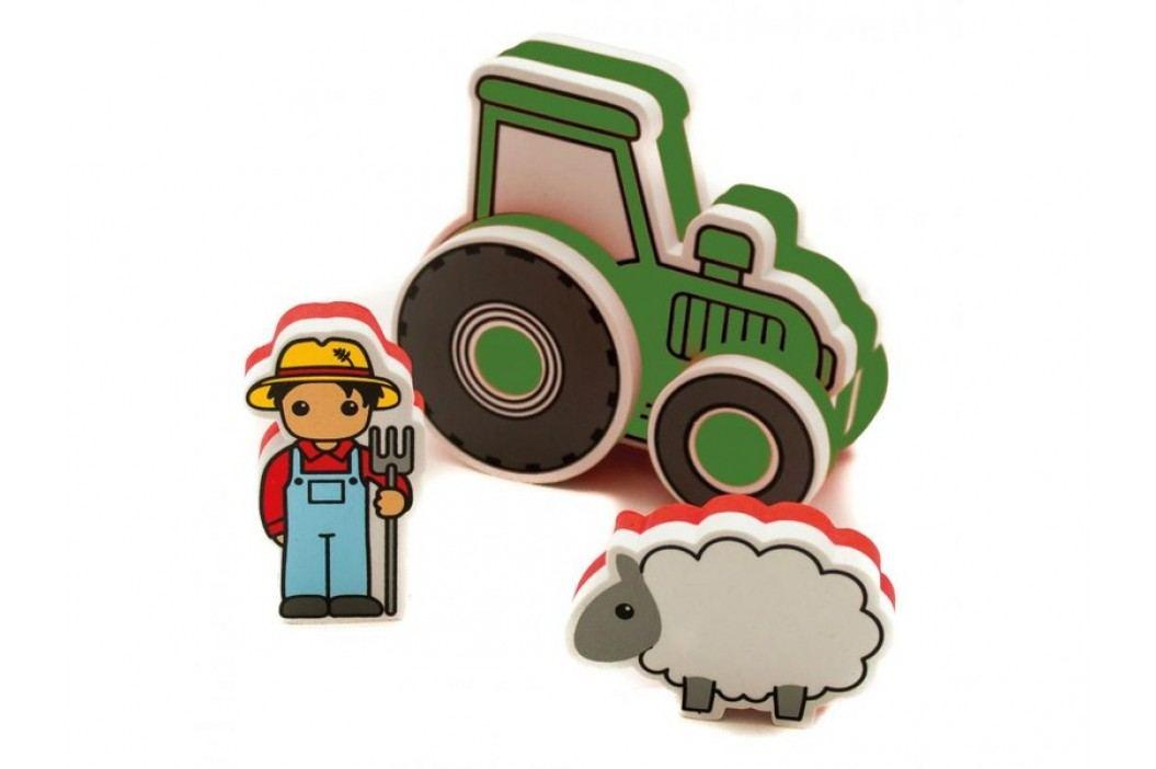 MEADOW KIDS - Pěnová stavebnice do vany Traktor zelený