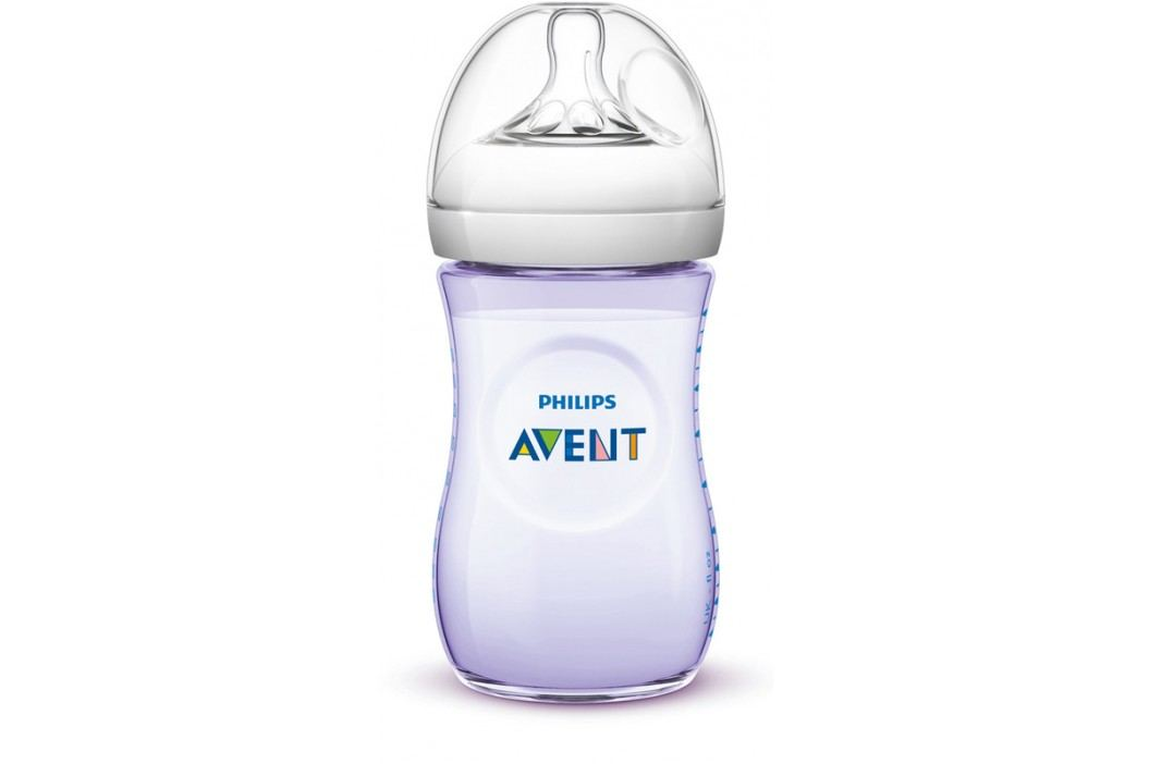 PHILIPS AVENT - Láhev Natural 260 ml fialová, 1 ks