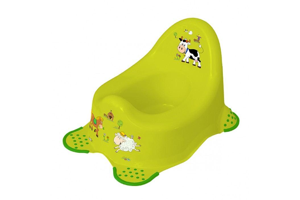 Dětský nočník 2K Funny Farm - Zelený