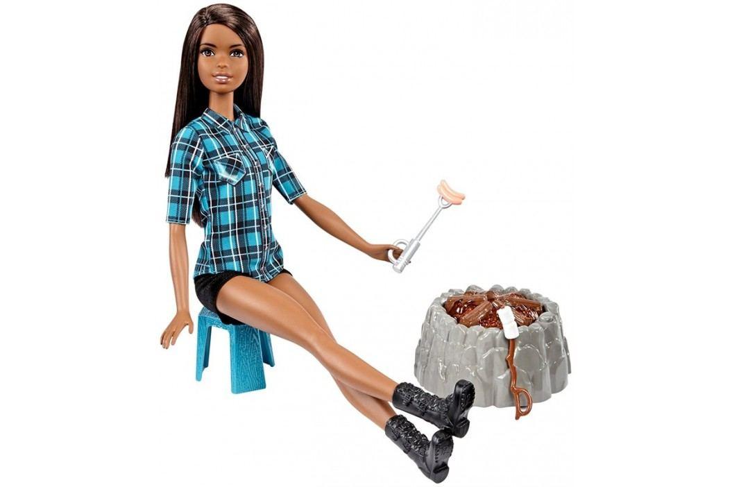MATTEL - Barbie Při táboráku bruneta FDB45
