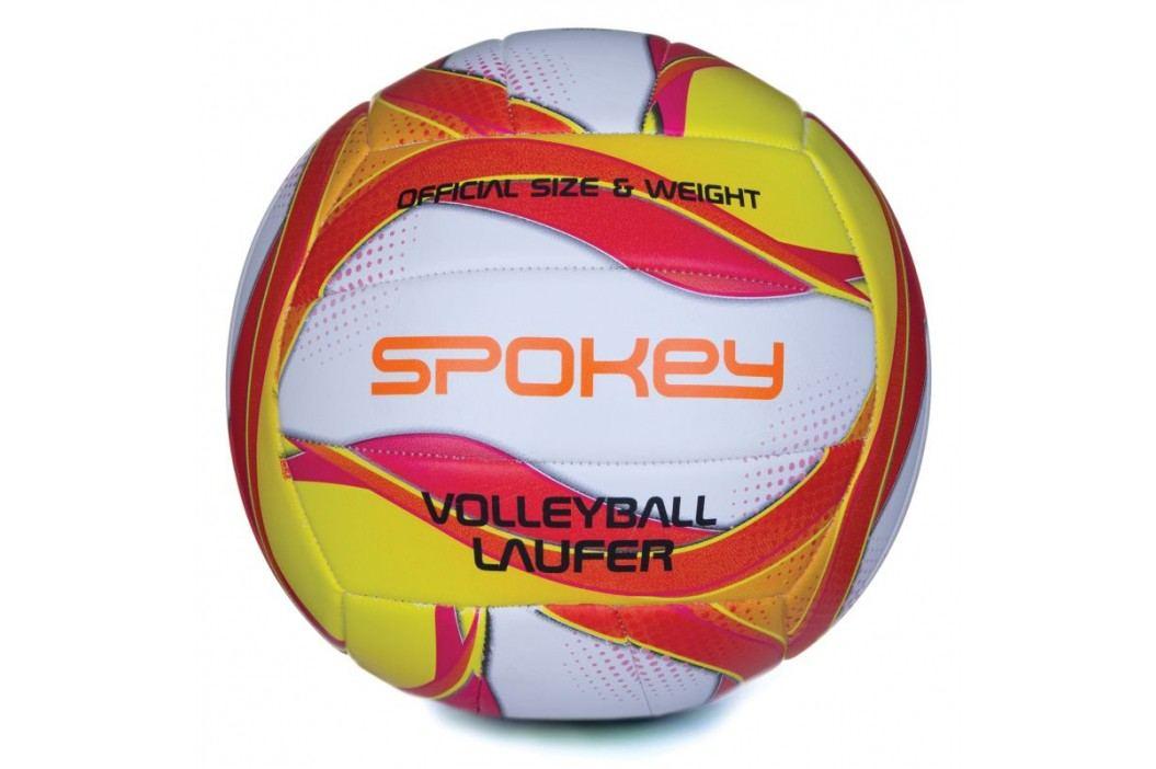 SPOKEY - LAUFER Volejbalový míč bílo-červeno-žlutý rozm.5
