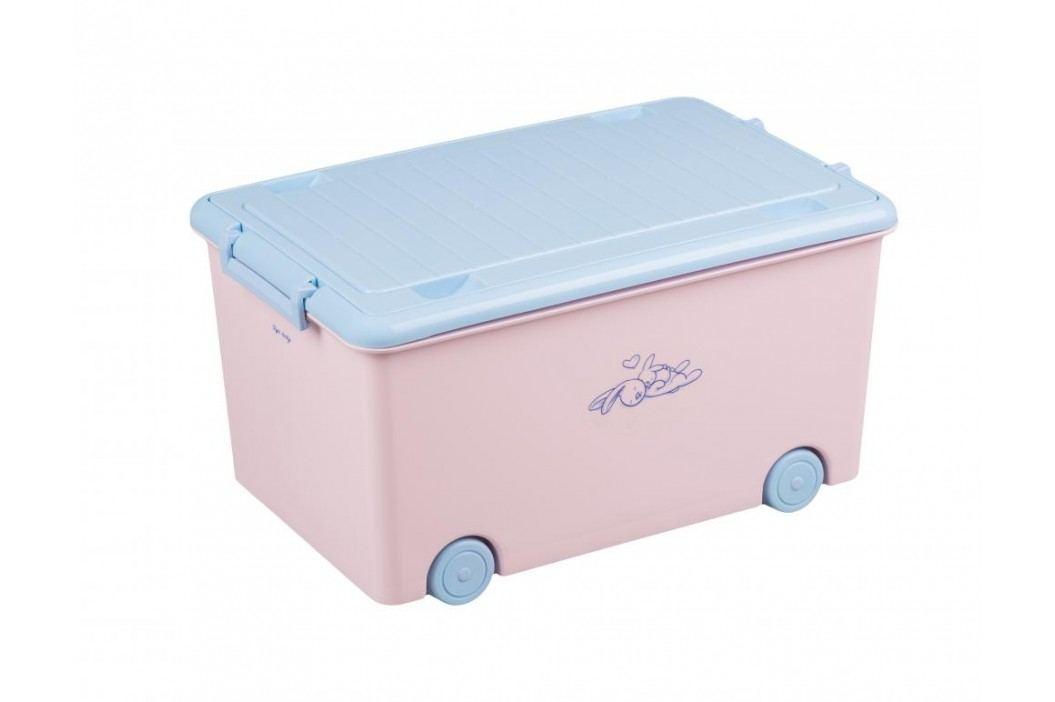 TEGA BABY - Box na hračky zajíček - junior růžový