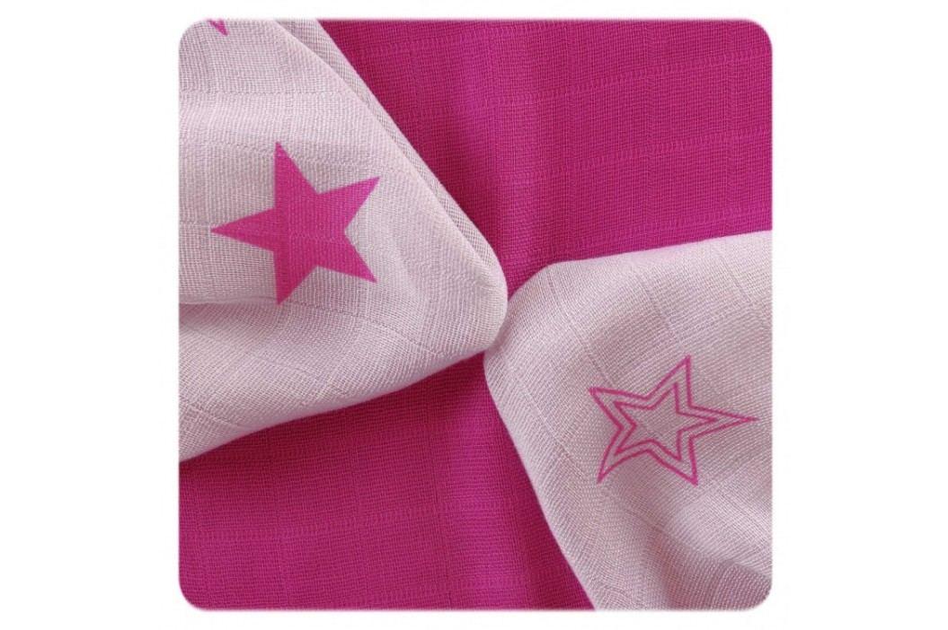 XKKO - Bambusové ubrousky 30x30 Magenta Stars Mix (9ks)