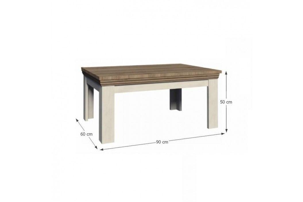 Konferenční stolek, sosna skandinávská / dub divoký, ROYAL LN