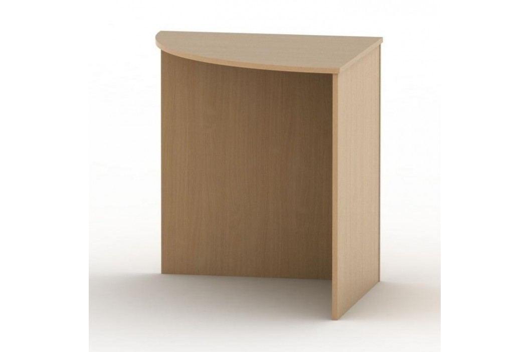 Stůl rohový obloukový, buk, TEMPO AS NEW 024