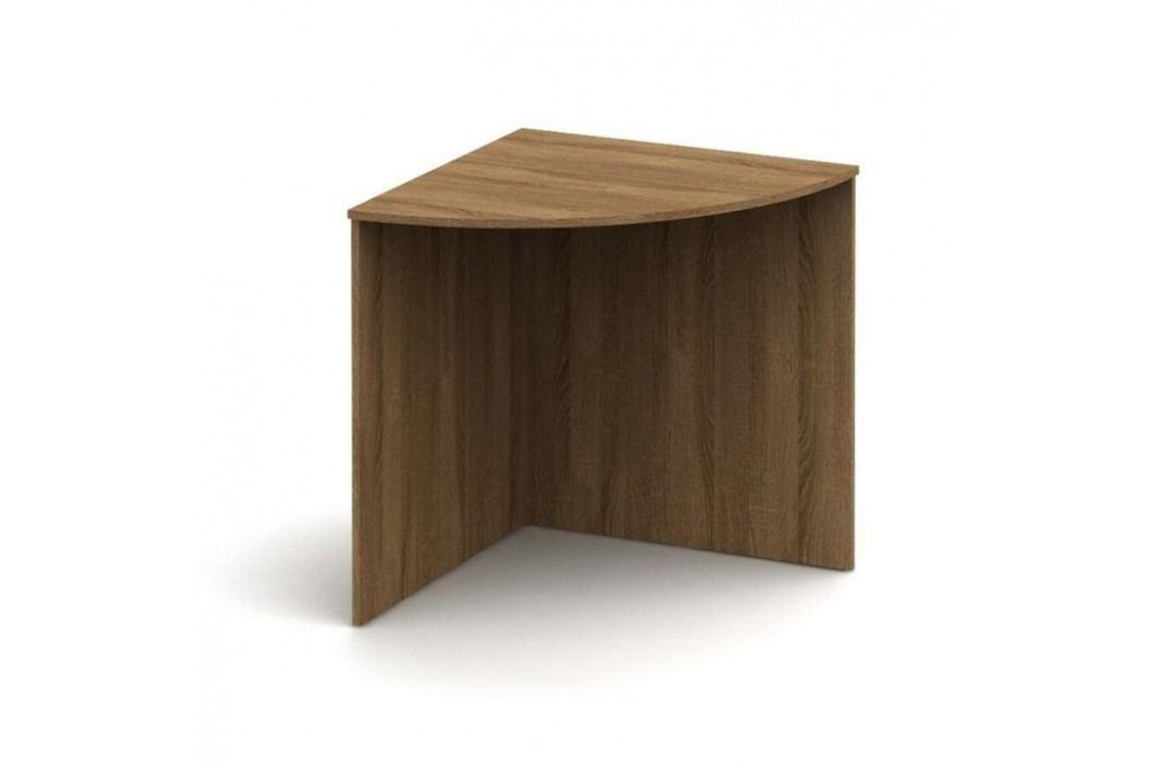 Stůl rohový obloukový, bardolino tmavé, TEMPO AS NEW 024