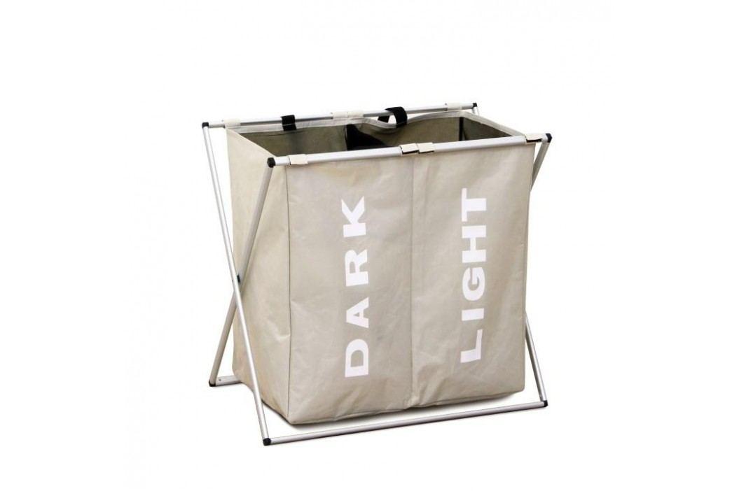 Látkový koš na prádlo, šedobéžová, LAUNDRY TYP 2