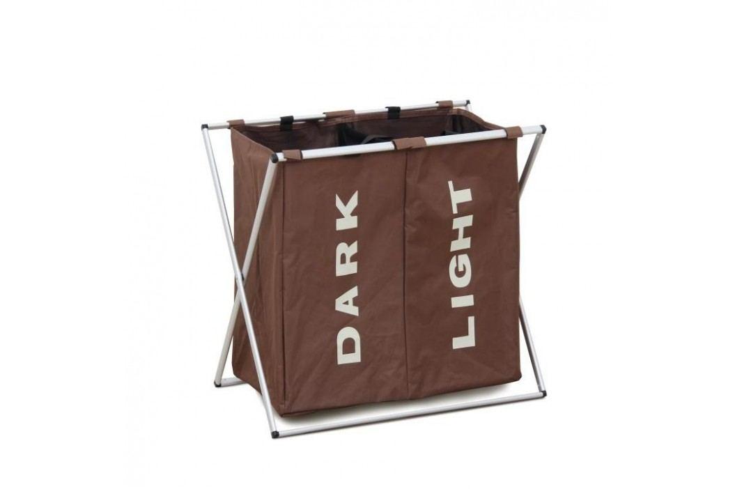 Látkový koš na prádlo, tmavě hnědá, LAUNDRY TYP 2
