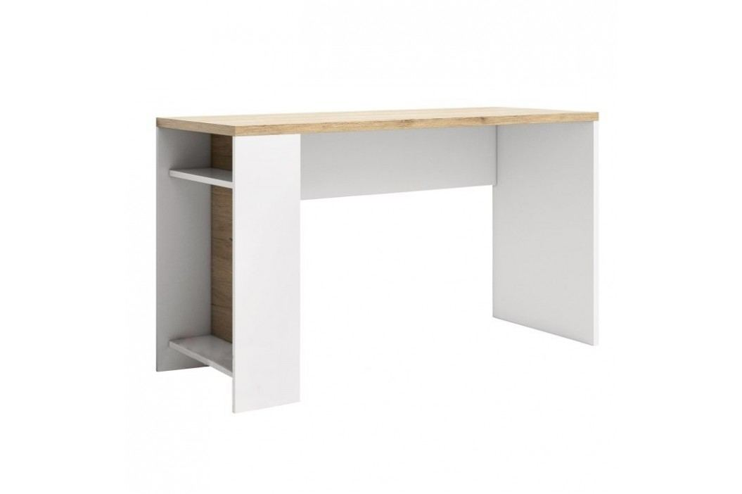 PC stůl LI14, san remo / bílá, DASTER