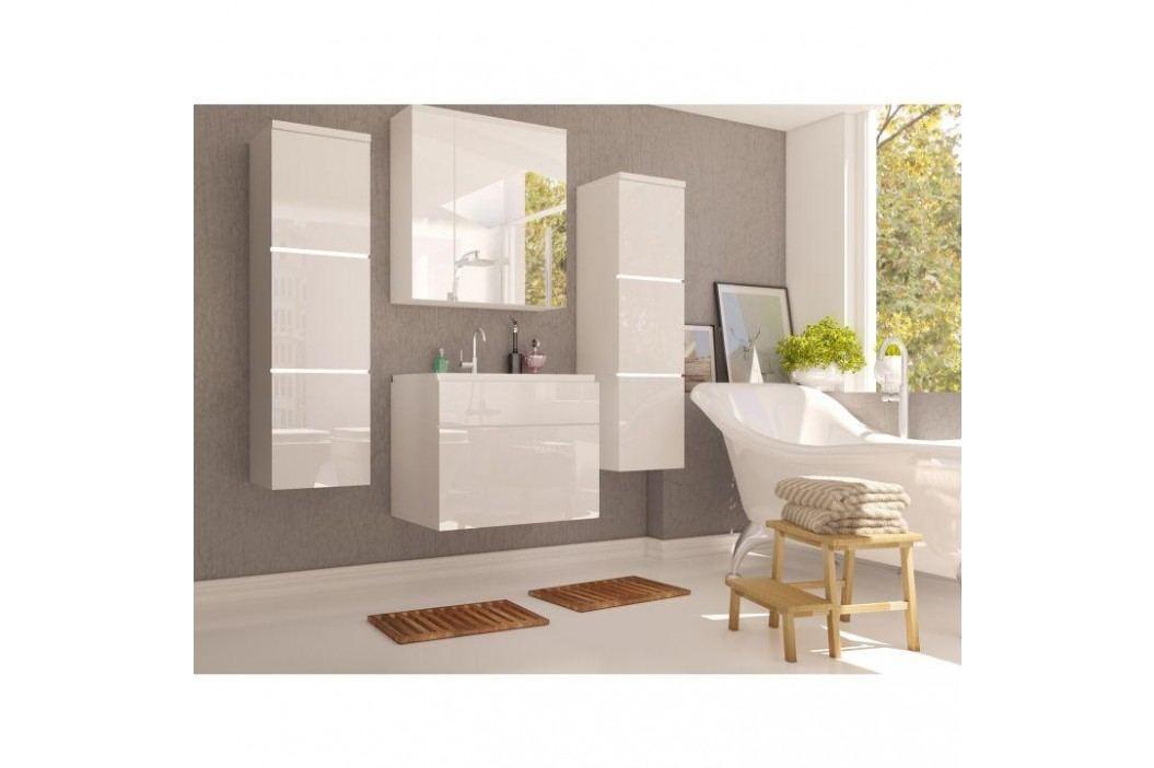Skříňka se zrcadlem, bílá / bílý HG, MASON