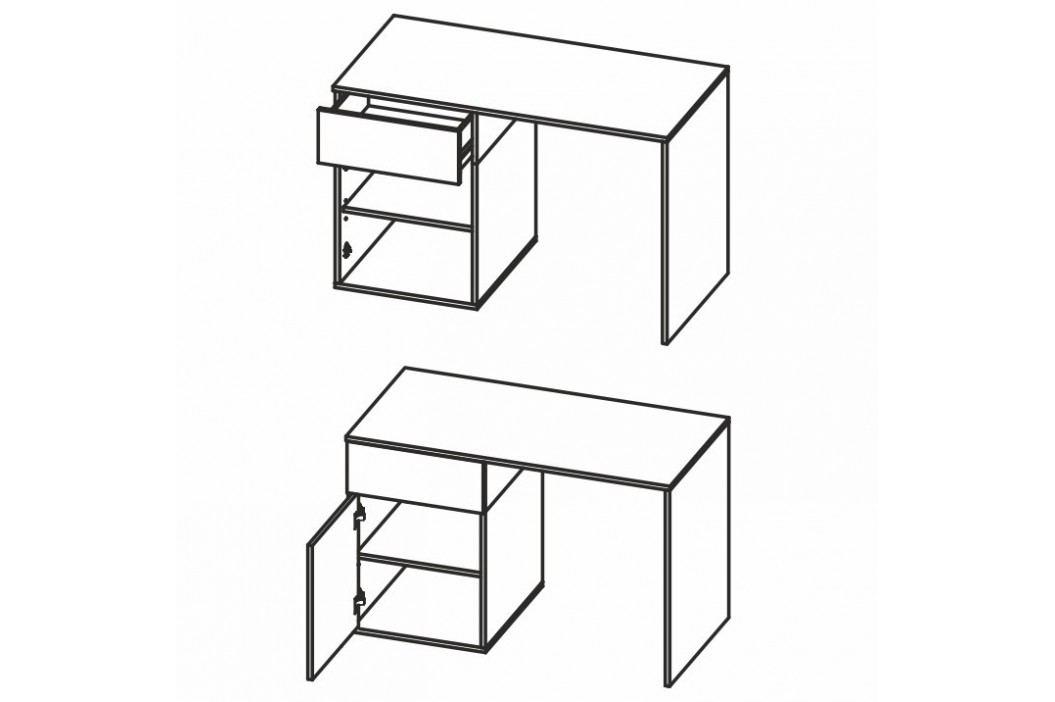 PC stůl, DTD laminovaná, grey / maracaibo, BERIA