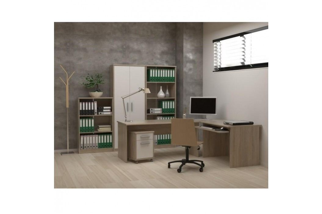 Rohový PC stůl, dub sonoma, JOHAN NEW 06