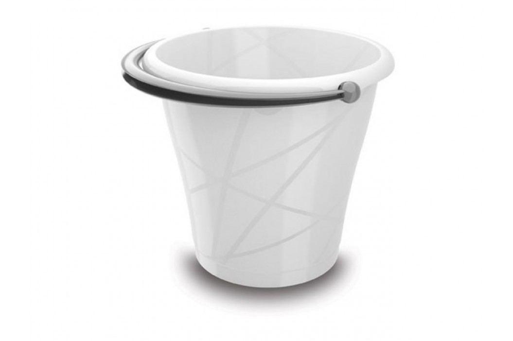 Bílé plastové vědro - 12l