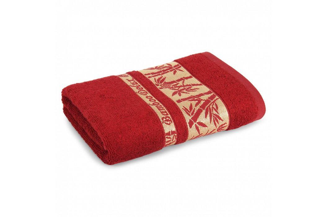 Bambusový ručník Bonia bordó 50x90 cm Ručník