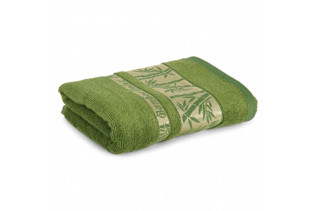 Bambusový ručník Bonia tmavě zelený 50x90 cm Ručník
