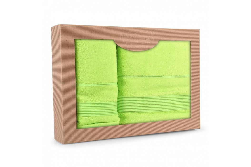 Dárková sada ručníků Moreno limonková Set Dvoudílný set obrázek inspirace