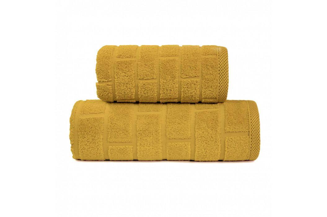 Ručník Brick hořčicový 50x90 cm Ručník