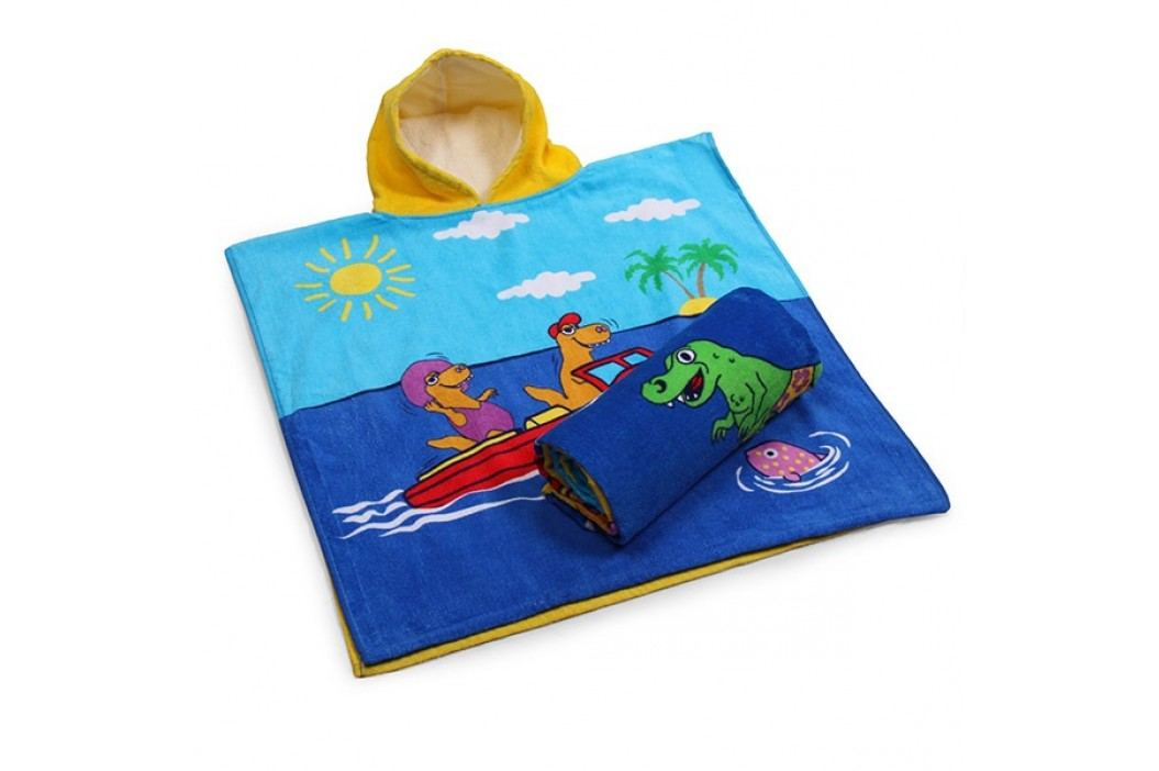 Dětské pončo Holidays 60x120 cm; 320 gr/m2 modrá