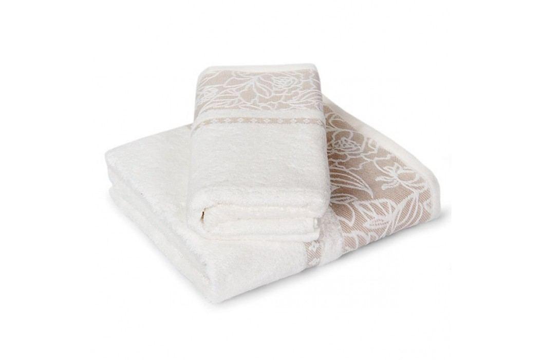 Set bambusových ručníků Eleonora ecru Set: 1 ks 50x90 cm; 1 ks 70x140 cm; 500 gr/m2 Ecru