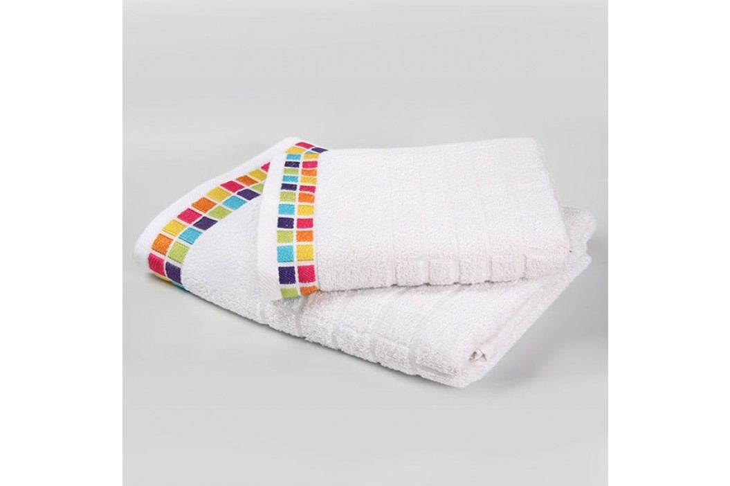 Ručník Mozaika - bílý 50x90 cm; 430 g/m2; Ručník