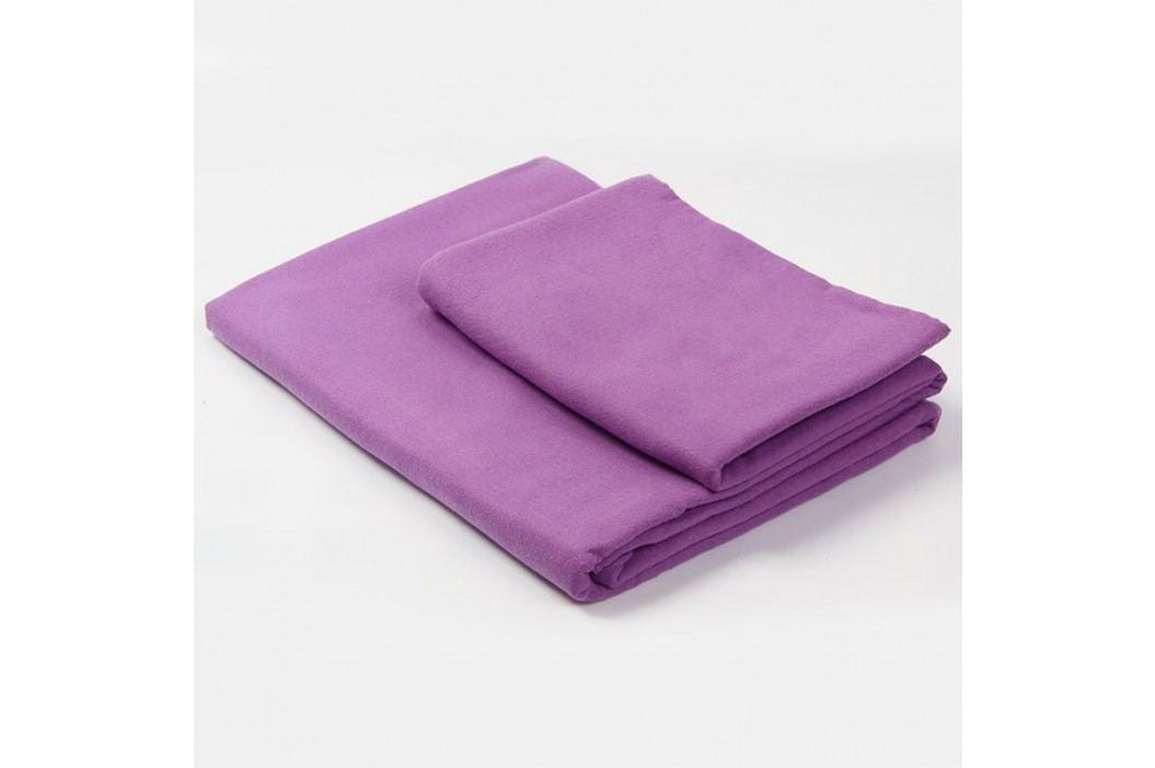 Funkční ručník a osuška fialová Set: 1 ks 50x90 cm; 1 ks 70x140 cm; Fialová