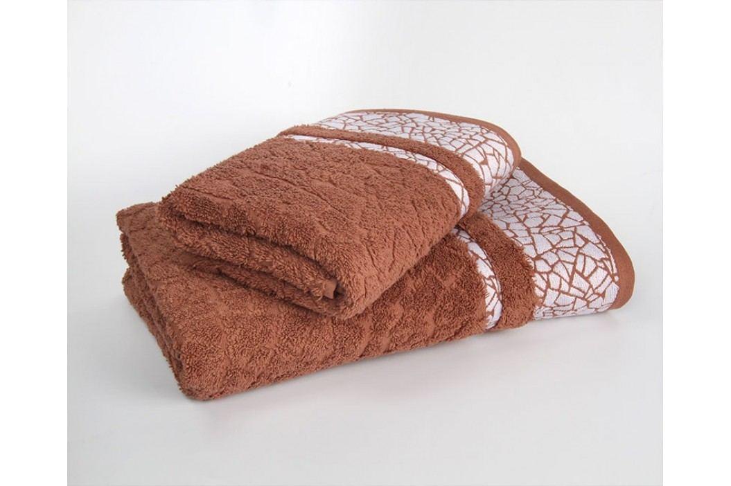 Ručník Kréta tmavě hnědý 70x140 cm; 500g/m2 Osuška