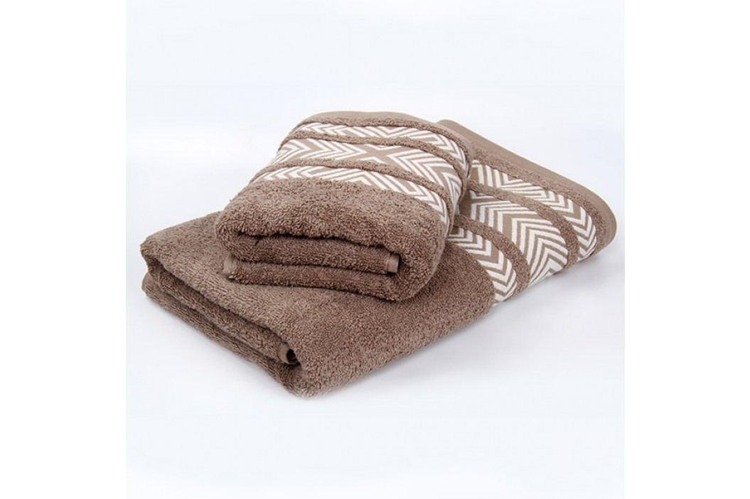 Bambusový ručník Tara - hnědý 70x140 cm; 440 g/m2; Osuška