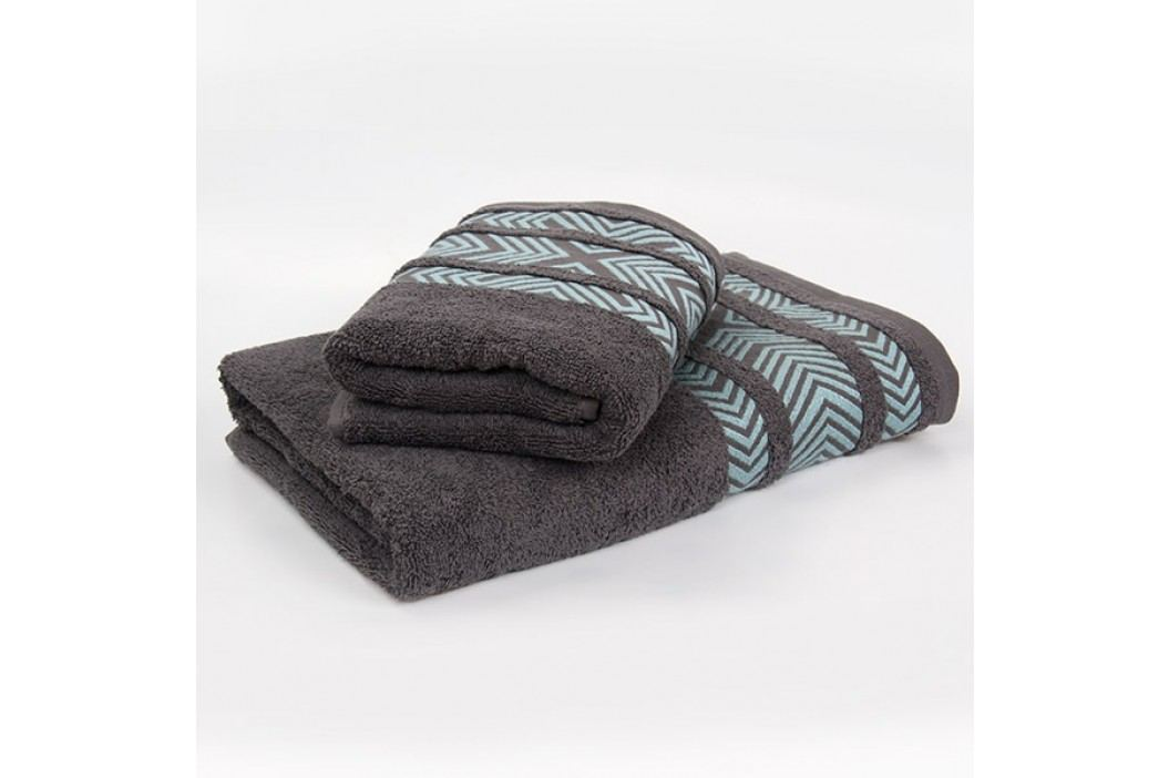 Bambusový ručník Tara - šedý 50x90 cm; 440 g/m2; Ručník