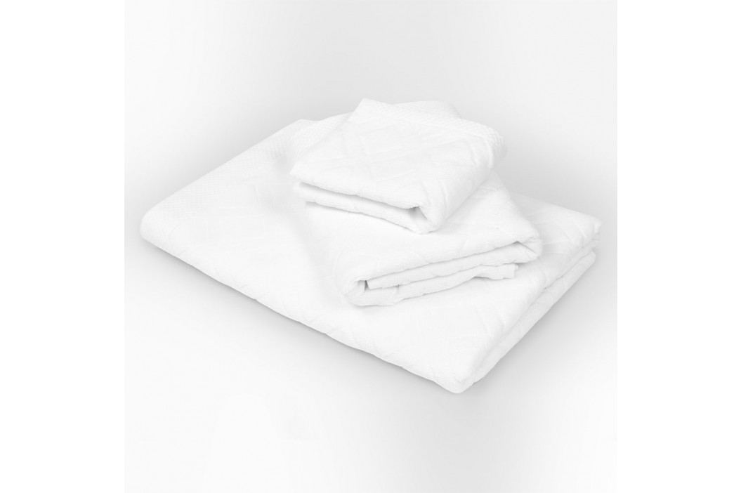 Velký ručník Charles bílý 50x90 cm Ručník velký