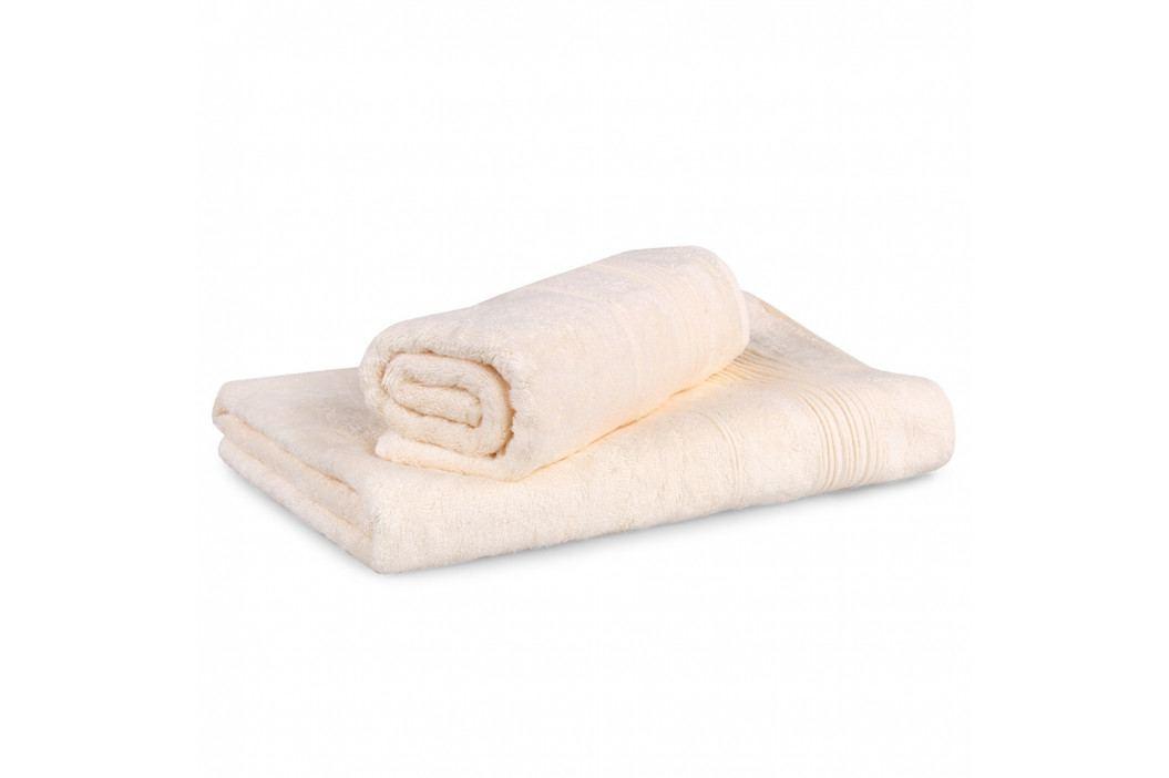 Set 2 bambusových ručníků Moreno ecru Set Dvoudílný set
