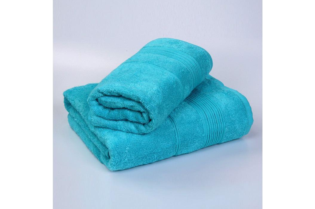 Set 2 bambusových ručníků Moreno - tyrkysový Set Dvoudílný set