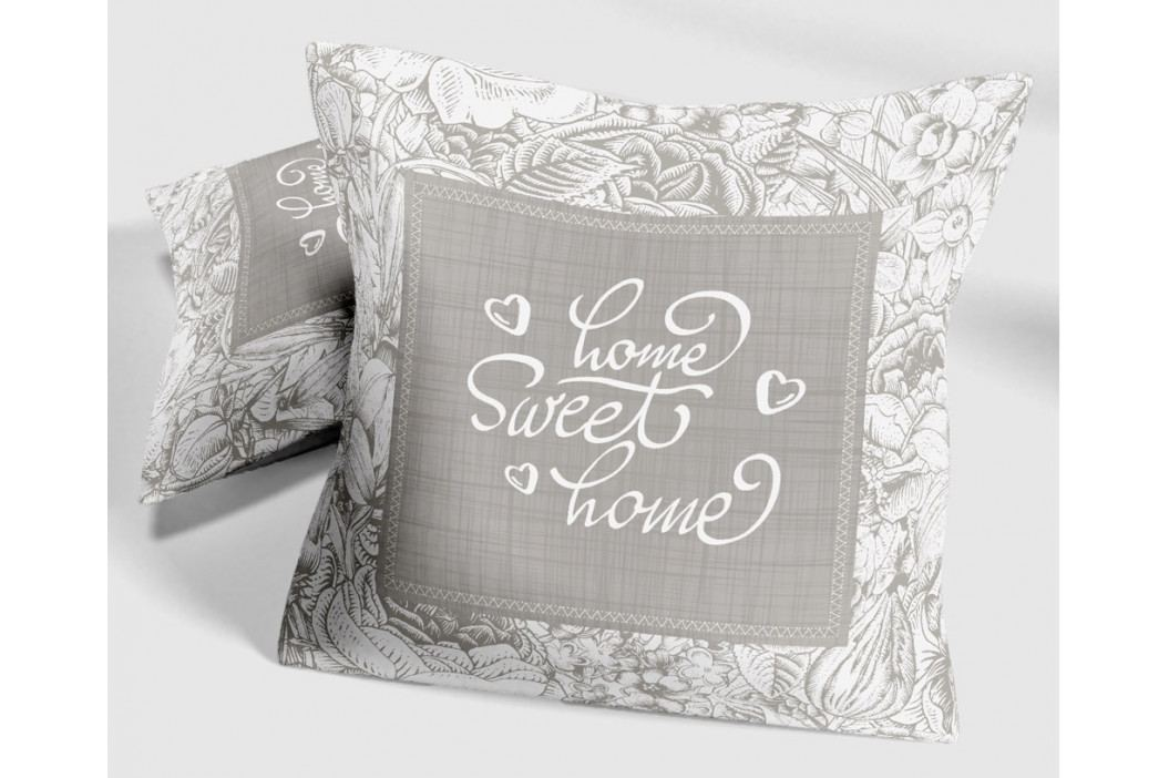 Dekorační polštářek Sweet Home II 40x40 cm šedá