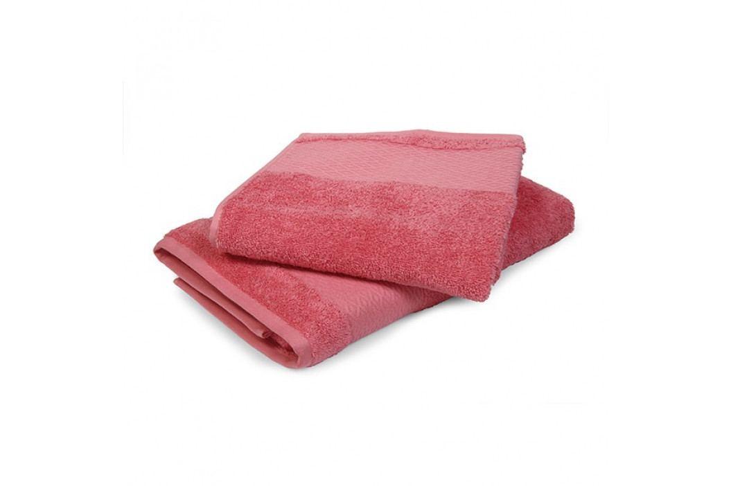 Ručník Karo růžový 50x90 cm Ručník